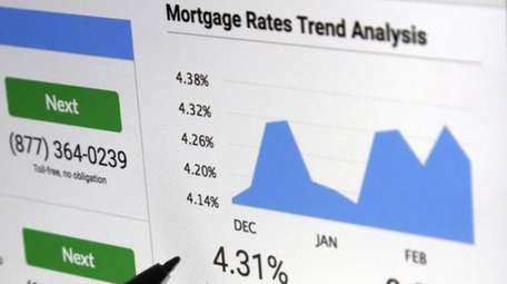 A mortgage rate graph is displayed on a