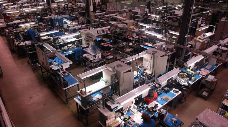 Comtech Telecomunications' manufacturing plant at in Melville: The