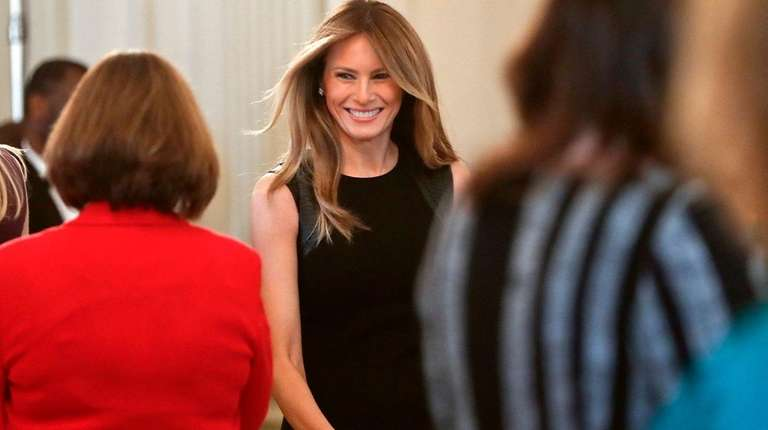 First lady Melania Trump hosts a luncheon March