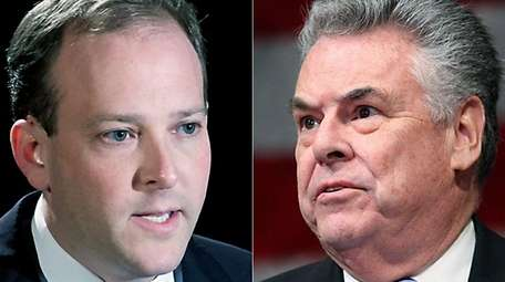 Reps. Lee Zeldin (R-Shirley), left, and Peter King