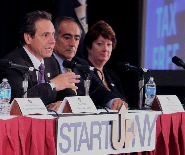 Gov. Andrew M. Cuomo, seen speaking on the