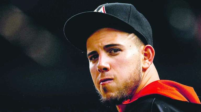 Jose Fernandez during a game against the Mets