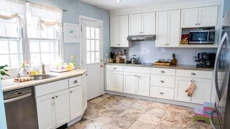 A recently renovated kitchen in the McElroy home