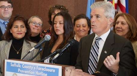Suffolk County Executive Steve Bellone is seen at