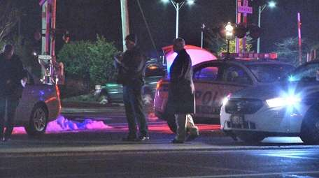 Suffolk County police investigate a hit-and-run crash on
