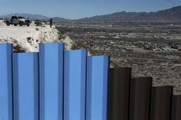 A border patrol agent observes on Jan. 25,