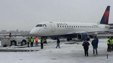A Delta Air Lines flight landed safely on