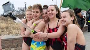 Members of the Connetquot High School swim team