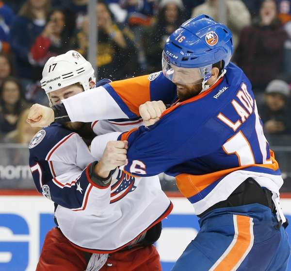 Andrew Ladd #16 of the New York Islanders