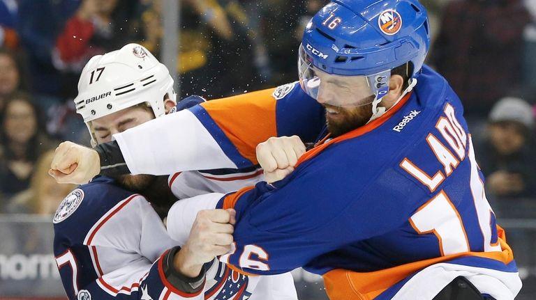 Andrew Ladd #16 of the New York Islanders