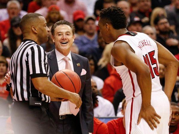Louisville Cardinals head coach Rick Pitino and Louisville