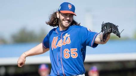 Mets righthander Robert Gsellman during spring training workout
