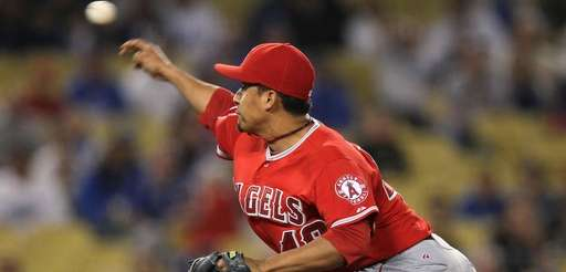 Reliever Ernesto Frieri #49 of the Los Angeles