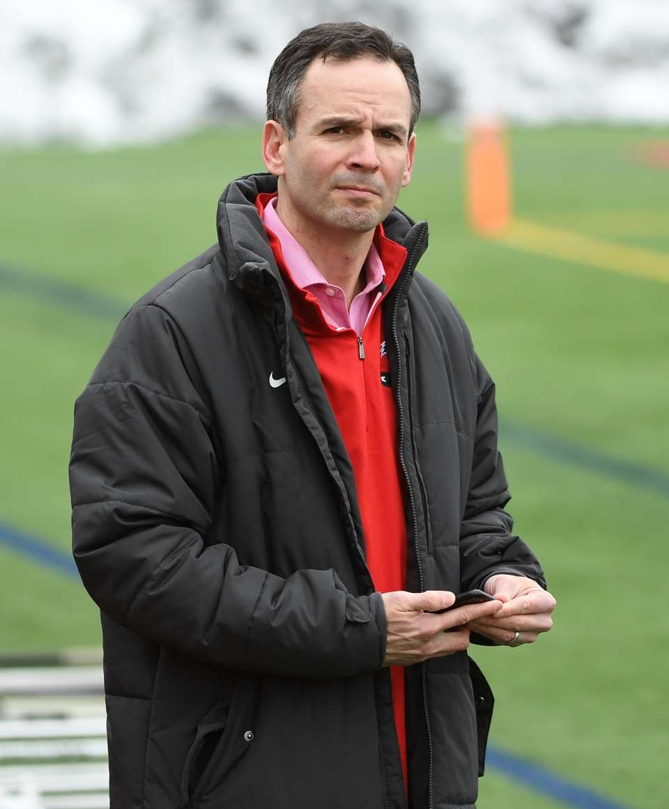 Stony Brook Director of Athletics Shawn Heilbron looks