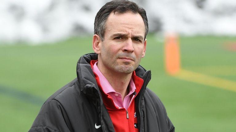 Stony Brook Director of Athletics Shawn Heilbron looks