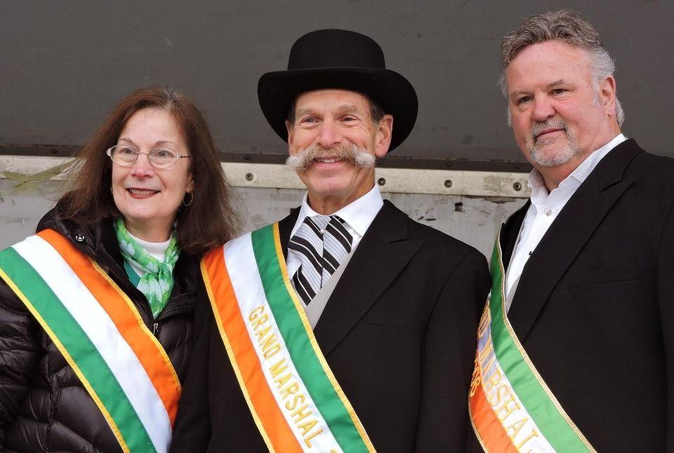 From left, Ellen Edelstein, Brentwood Historical Society president;