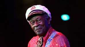 Chuck Berry, shown in performance in New Orleans