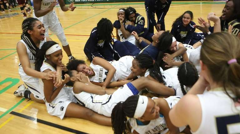 Baldwin celebrated after defeating Ossining 73-45 and won