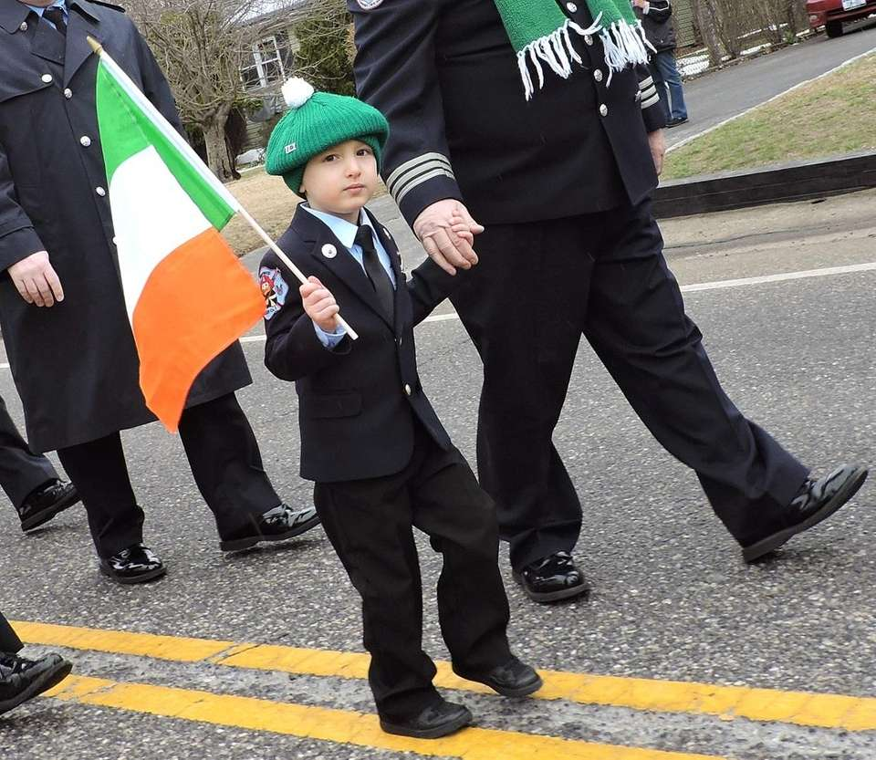 A youngster, dressed as a member of Brentwood