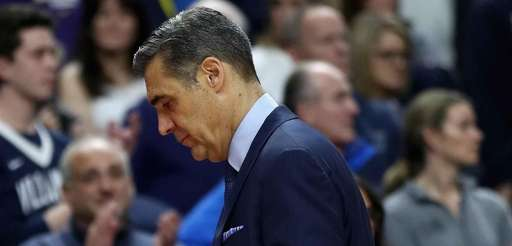 Head coach Jay Wright of the Villanova Wildcats
