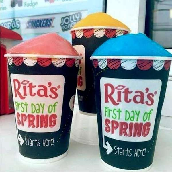 Spring starts Monday, March 20, and Rita's is