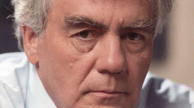 Jimmy Breslin at Newsday's office in Melville on