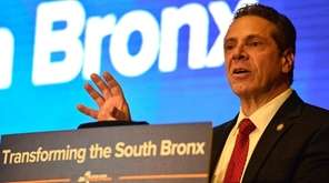 New York Governor Andrew M. Cuomo announces a
