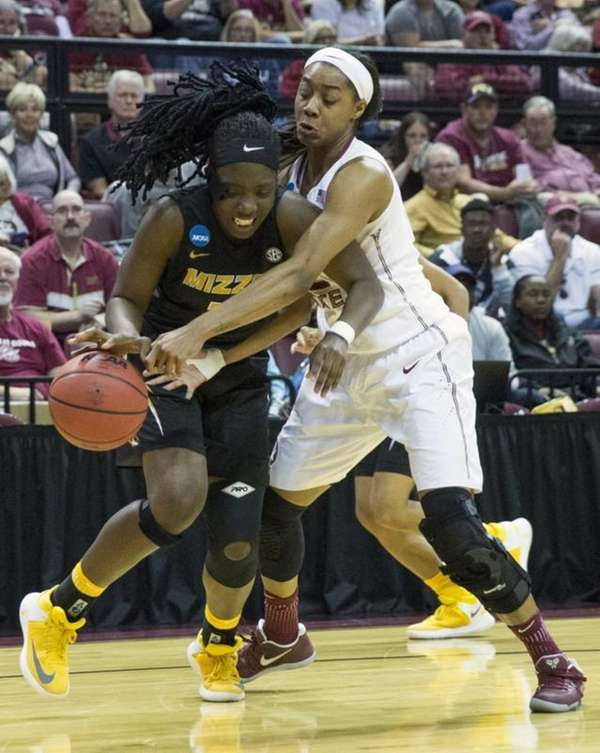 Florida State forward Ivey Slaughter, right, tries to
