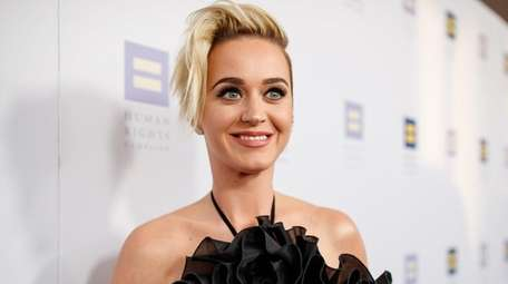 Singer Katy Perry arrives at The Human Rights