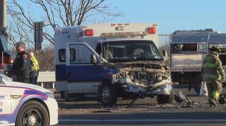This private ambulance collided on Sunday, March 19,