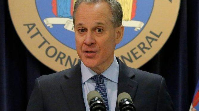New York Attorney General Eric T. Schneiderman speaks