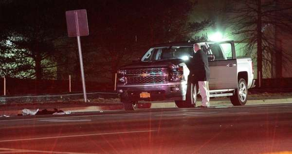 A 47-year-old Levittown woman was struck by a