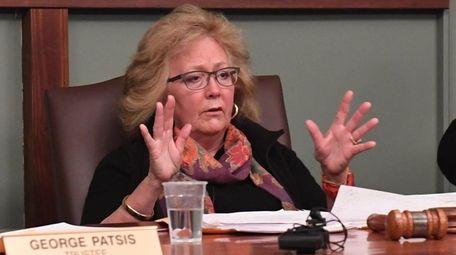 Lloyd Harbor Village Mayor Jean Thatcher speaks about