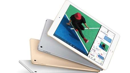The new iPad is seen in this promotional