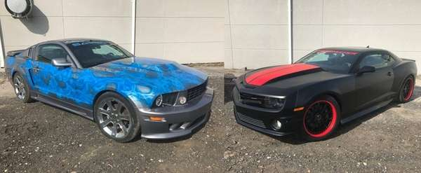 A 2006 Ford Mustang GT Saleen and a