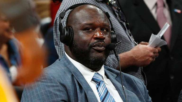 Television announcer Shaquille O'Neal, a retired Hall of