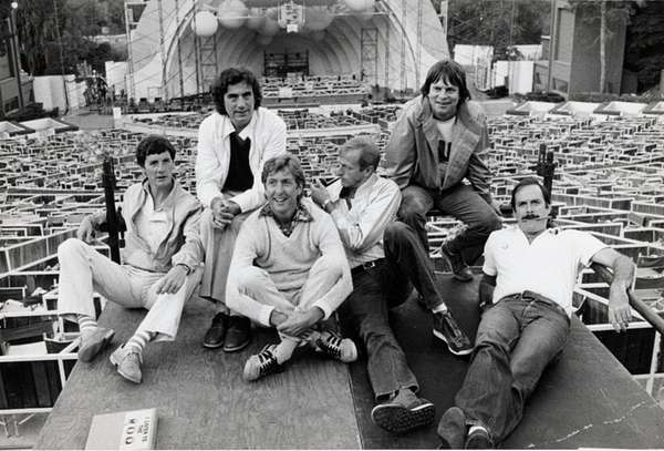 Michael Palin, left, Terry Jones, Eric Idle, Graham