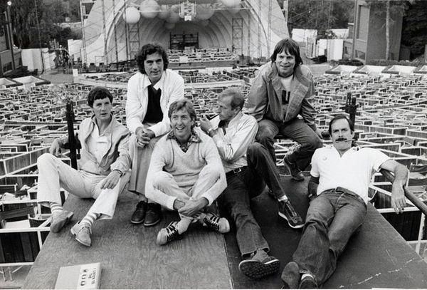 Michael Palin, left, Terry Jones, Eric Idle, Graham