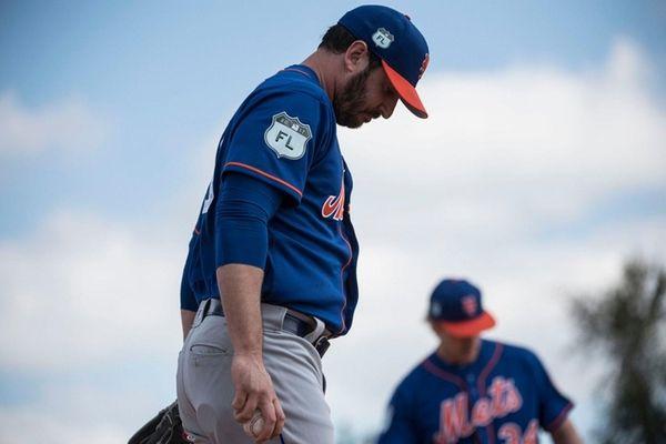 Matt Harvey throws a bullpen session on Thursday,