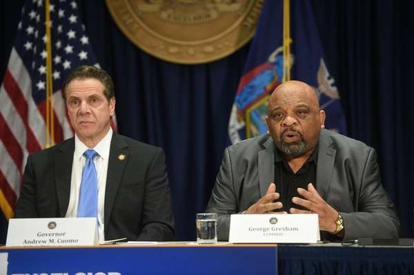 New York Gov. Andrew M. Cuomo joined by