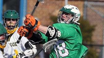 Farmingdale's Brian Michael gets the ball out front