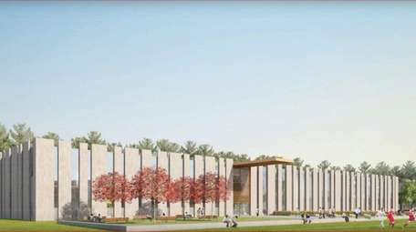 A rendering of Suffolk County Community College's planned