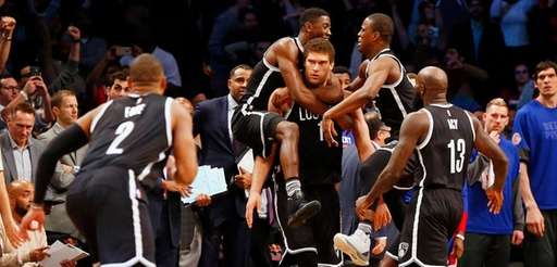 Brook Lopez #11 of the Brooklyn Nets is