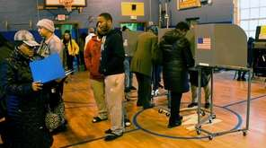 Residents turn out to vote in the Hempstead