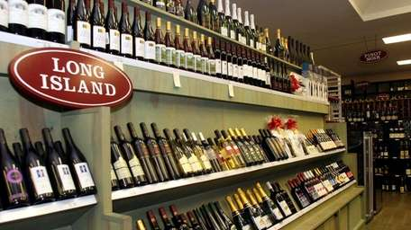 The Long Island wine display at Post Wines