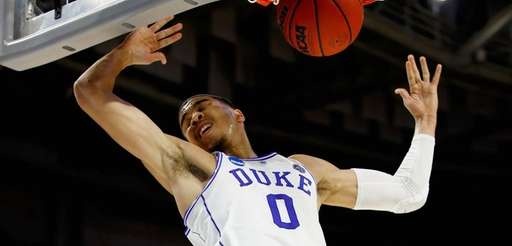 Jayson Tatum #0 of the Duke Blue Devils