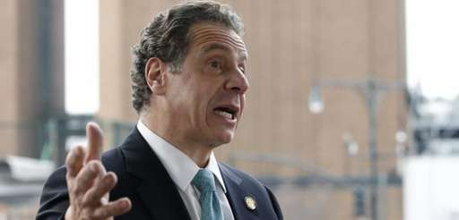 New York Gov. Andrew Cuomo speaks in New