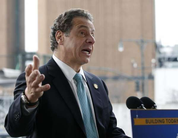New York Gov. Andrew M. Cuomo speaks in