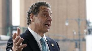New York Gov. Andrew M. Cuomo speaks in