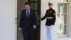 House Intelligence Committee Chairman Devin Nunes leaves a
